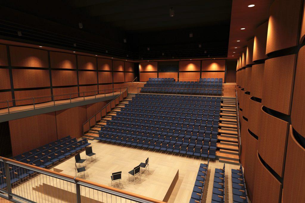 אולם צוקר - מבנה אולם